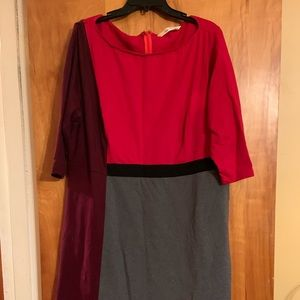 EShakti color block dress